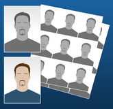 Vector photo icons with faces. Vector photo icons with different faces for documentation Royalty Free Stock Photography