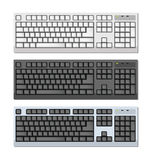 Vector Photo-realistic Keyboards Set Royalty Free Stock Image