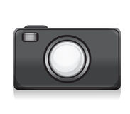 Vector photocamera icon Royalty Free Stock Images