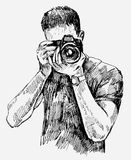 Vector Photographer Stock Image