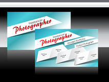 Vector photographer business card Stock Image
