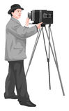 Vector of photographer with camera. Royalty Free Stock Image