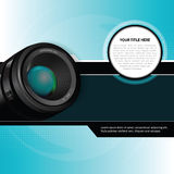Vector photographic background with lens Stock Photography