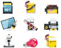 Vector photography icons. Part 2 Stock Photography