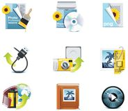 Vector photography icons. Part 3 royalty free illustration