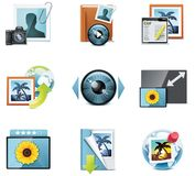 Vector photography icons. Part 4 Royalty Free Stock Photos