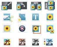 Vector Photography Icons. Part 5 Royalty Free Stock Image
