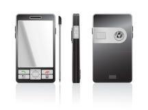 Vector photorealistic illustratie van een zwarte PDA Royalty-vrije Stock Foto's