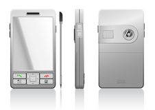 Vector photorealistic illustration of gray PDA Stock Image