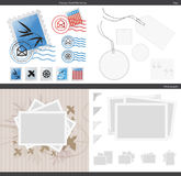 Vector Photos Stamps Tags. Vector photo placeholders, stamps and marketing, and tags Royalty Free Stock Images