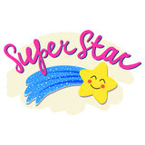 Vector phrase Super Star. royalty free stock image