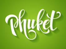 Vector Phuket banner Stock Images