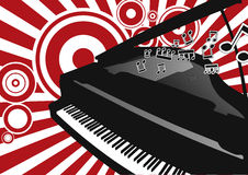 Vector Piano Royalty Free Stock Photography