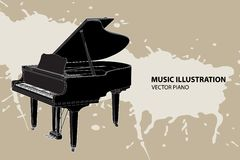 Vector Piano Royalty Free Stock Images