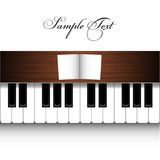 Vector piano design. On white Royalty Free Stock Images