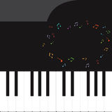Vector of piano key .music background Royalty Free Stock Photo
