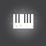 Vector of piano key .music icon Stock Image