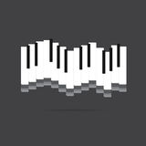 Vector of piano key .music icon Royalty Free Stock Images