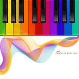 Vector piano keyboard on a white background. The vector colorful piano keyboard on a white background Royalty Free Stock Images