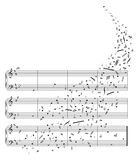Vector piano sheet music Stock Images