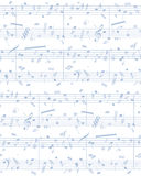 Vector piano sheet music Stock Photos