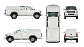 Vector pickup truck on white background Royalty Free Stock Photos