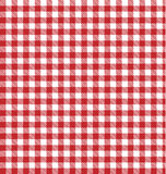 Tablecloth picnic blanket background table cloth vector pattern, red white gingham texture backdrop checkered plaid old art fabric Royalty Free Stock Images