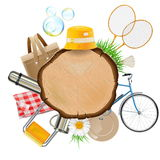 Vector Picnic Board. Isolated on white background Royalty Free Stock Photos