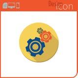 Vector pictogram op witte achtergrond Het werk van het mechanisme Het toestelpictogram voor gebruik op de Website of de toepassin Royalty-vrije Stock Foto's
