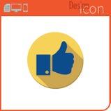 Vector pictogram op witte achtergrond Ontwerpertendens Als, pictogram dat ik heb gehouden van Voor gebruik op de Website of app Royalty-vrije Stock Afbeelding