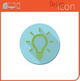 Vector pictogram op witte achtergrond Ontwerpertendens De gloeilamp van het ideepictogram Royalty-vrije Stock Fotografie
