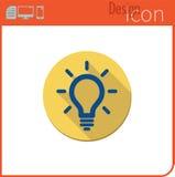 Vector pictogram op witte achtergrond Ontwerpertendens De gloeilamp van het ideepictogram Stock Fotografie
