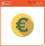 Vector pictogram op witte achtergrond Ontwerpertendens Euro muntpictogram, Voor gebruik op de Website of app Royalty-vrije Stock Afbeelding