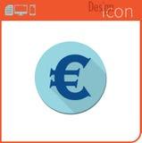 Vector pictogram op witte achtergrond Ontwerpertendens Euro muntpictogram, Voor gebruik op de Website of app Royalty-vrije Stock Afbeeldingen