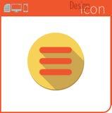 Vector pictogram op witte achtergrond Ontwerpertendens Menupictogram voor gebruik op de Website of de toepassing Stock Afbeeldingen