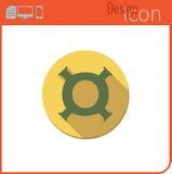 Vector pictogram op witte achtergrond Ontwerpertendens Pictogram, munt, geld De uitwisseling van de munt Voor gebruik op de Websi Royalty-vrije Stock Afbeelding