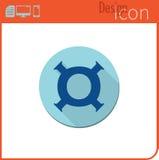 Vector pictogram op witte achtergrond Ontwerpertendens Pictogram, munt, geld De uitwisseling van de munt Voor gebruik op de Websi Stock Fotografie