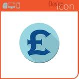 Vector pictogram op witte achtergrond Ontwerpertendens Ponden, pictogram, munt, geld Voor gebruik op de Website of de toepassing Stock Afbeelding