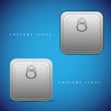 Vector pictogrammen. Transparante schaduw Stock Foto