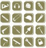Vector pictogrammen van hulpmiddel Royalty-vrije Stock Afbeeldingen