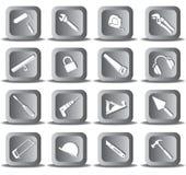 Vector pictogrammen van hulpmiddel Royalty-vrije Stock Afbeelding