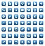 Vector pictogrammen voor interface Stock Afbeeldingen