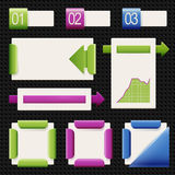 Reeks elementen van infographics Stock Foto's