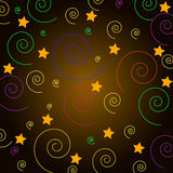 Vector picture, the background colorful spiral and star Royalty Free Stock Images