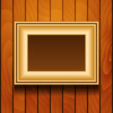 Vector picture frame on wall. Stock Image