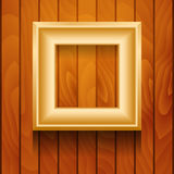 Vector picture frame on wall. Royalty Free Stock Photography