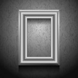 Vector picture frame on wall. Stock Images