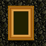 Vector picture frame on wall. Royalty Free Stock Photos