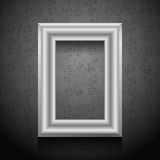Vector picture frame on wall. Vector picture frame on wall, vintage grunge wallpaper Royalty Free Stock Photography