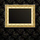 Vector picture frame on wall. Stock Photography